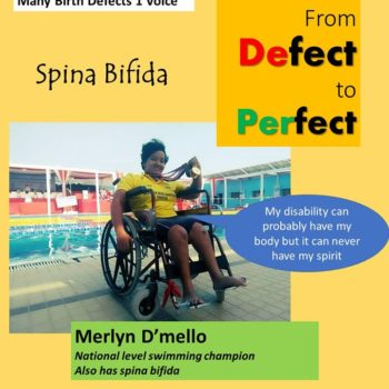 Merlyn a national paraolympic champion belives in perfect free spirit that rises above the birth defect